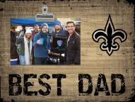New Orleans Saints Best Dad Clip Frame
