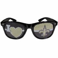 New Orleans Saints Black I Heart Game Day Shades