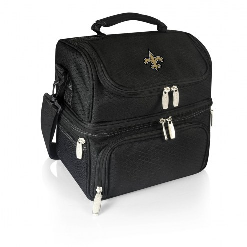 New Orleans Saints Black Pranzo Insulated Lunch Box