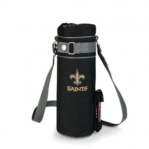 New Orleans Saints Black Wine Sack