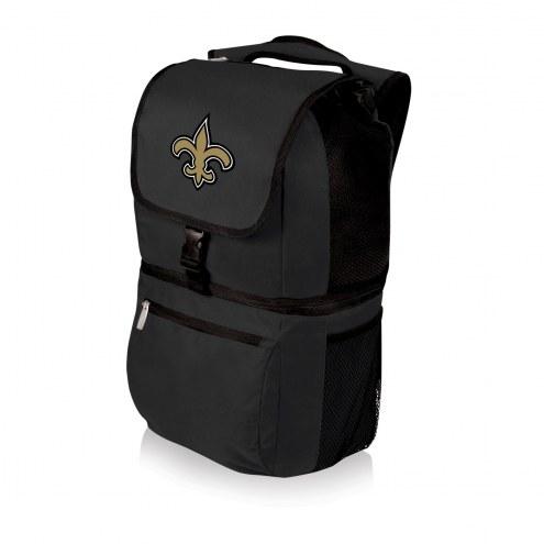 New Orleans Saints Black Zuma Cooler Backpack
