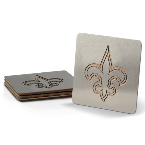 New Orleans Saints Boasters Stainless Steel Coasters - Set of 4