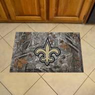 New Orleans Saints Camo Scraper Door Mat