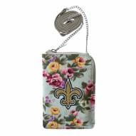 New Orleans Saints Canvas Floral Smart Purse