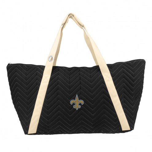 New Orleans Saints Chevron Stitch Weekender Bag