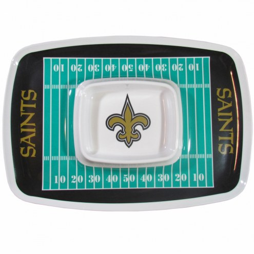 New Orleans Saints Chip & Dip Tray