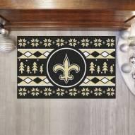 New Orleans Saints Christmas Sweater Starter Rug