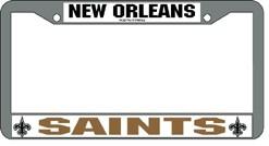 New Orleans Saints Chrome License Plate Frame