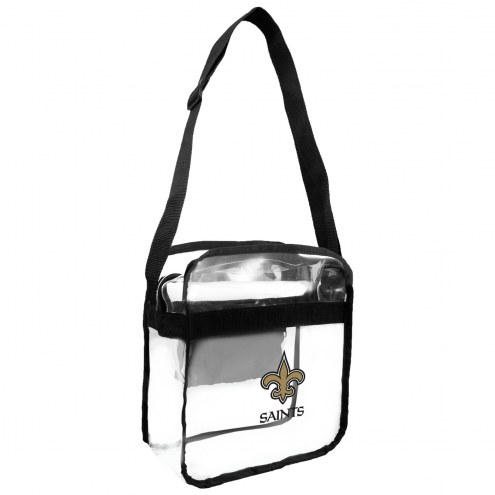 New Orleans Saints Clear Crossbody Carry-All Bag