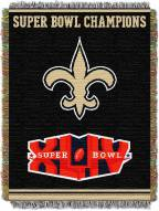 New Orleans Saints Commemorative Champs Throw Blanket