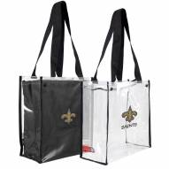 New Orleans Saints Convertible Clear Tote