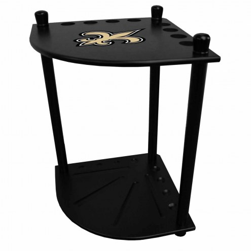 New Orleans Saints Corner Pool Cue Rack