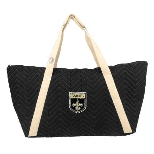 New Orleans Saints Crest Chevron Weekender Bag