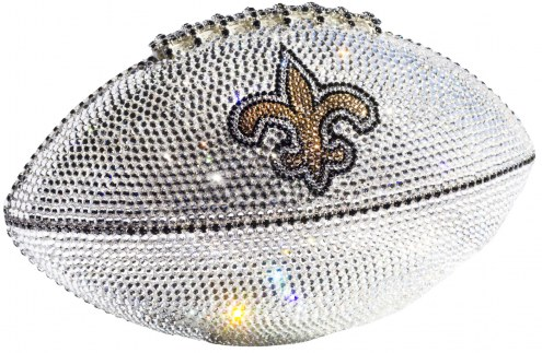 New Orleans Saints Swarovski Crystal Football