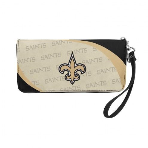 New Orleans Saints Curve Zip Organizer Wallet