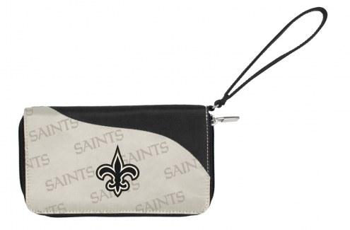New Orleans Saints Curve Zip Wallet