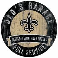 New Orleans Saints Dad's Garage Sign