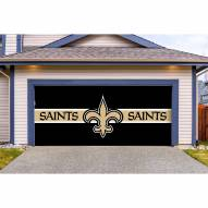 New Orleans Saints Double Garage Door Cover