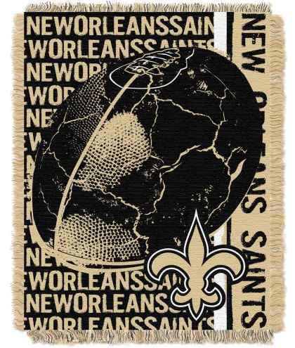 New Orleans Saints Double Play Jacquard Throw Blanket