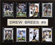 """New Orleans Saints Drew Brees 12"""" x 15"""" Card Plaque"""