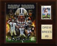 """New Orleans Saints Drew Brees 12 x 15"""" Player Plaque"""