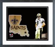 New Orleans Saints Drew Brees 2008 Action Framed Photo