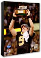 New Orleans Saints Drew Brees 2009 With NFC Championship Trophy Photo