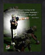 New Orleans Saints Drew Brees Framed Pro Quote