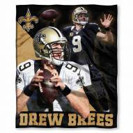 New Orleans Saints Drew Brees Silk Touch Blanket