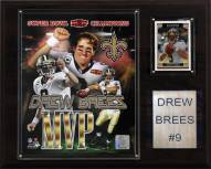 "New Orleans Saints Drew Brees 12"" x 15"" Super Bowl MVP Plaque"