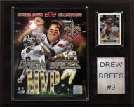 """New Orleans Saints Drew Brees 12"""" x 15"""" Super Bowl MVP Plaque"""