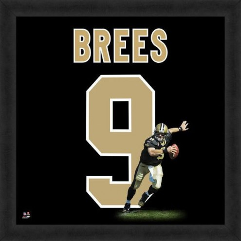 New Orleans Saints Drew Brees Uniframe Framed Jersey Photo