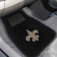 New Orleans Saints Embroidered Car Mats