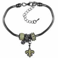 New Orleans Saints Euro Bead Bracelet