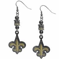 New Orleans Saints Euro Bead Earrings