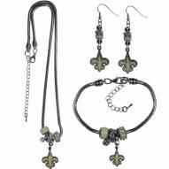 New Orleans Saints Euro Bead Jewelry 3 Piece Set