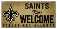 New Orleans Saints Fans Welcome Sign