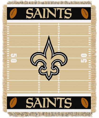 New Orleans Saints Field Baby Blanket