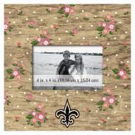 """New Orleans Saints Floral 10"""" x 10"""" Picture Frame"""