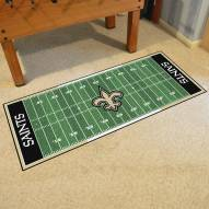 New Orleans Saints Football Field Runner Rug