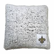 New Orleans Saints Frosty Throw Pillow