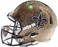 New Orleans Saints Full Size Swarovski Crystal Football Helmet