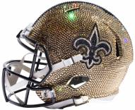 New Orleans Saints Full Size Swarovski Crystal Football Helmet