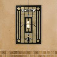 New Orleans Saints Glass Single Light Switch Plate Cover