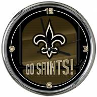 New Orleans Saints Go Team Chrome Clock