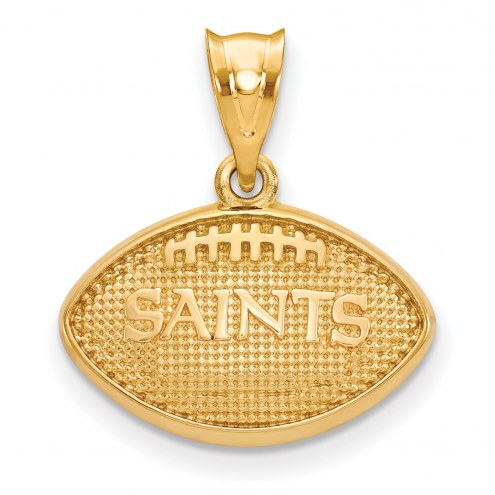 New Orleans Saints Gold Plated Football Pendant