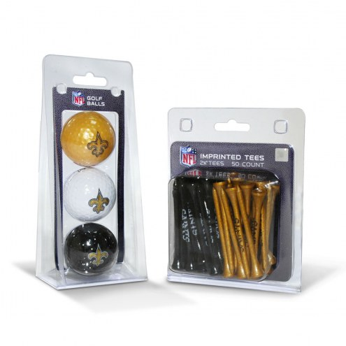 New Orleans Saints Golf Ball & Tee Pack
