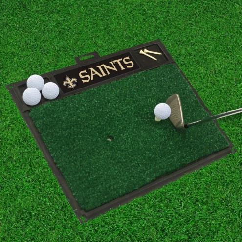 New Orleans Saints Golf Hitting Mat
