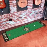 New Orleans Saints Golf Putting Green Mat