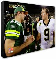 New Orleans Saints & Green Bay Packers Drew Brees, Aaron Rodgers Photo